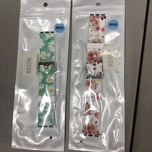 Accessories - Apple Watch Bands 38mm 2pack flowers